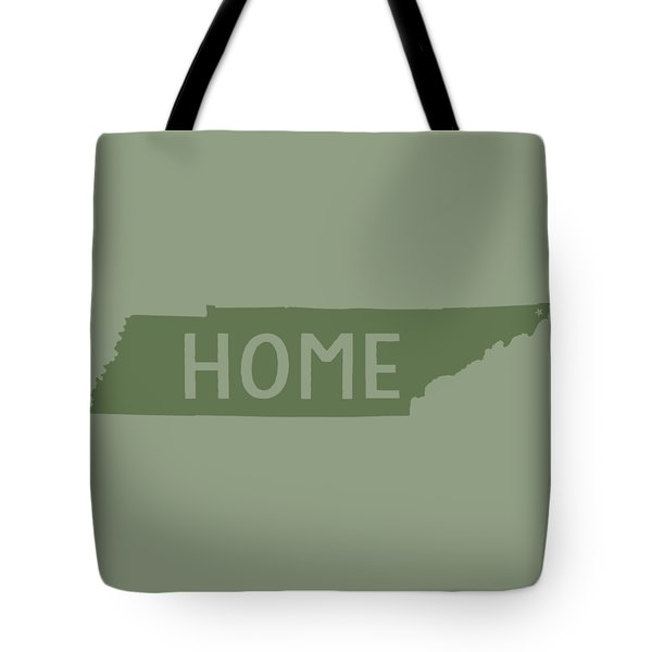 Tote Bag featuring the digital art Tennessee Home Green by Heather Applegate