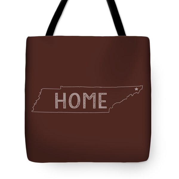 Tote Bag featuring the digital art Tennessee Home by Heather Applegate