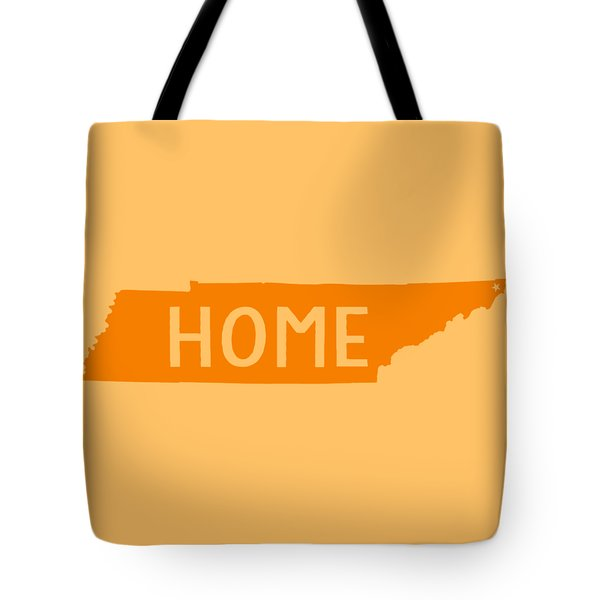 Tote Bag featuring the digital art Tennessee Home Orange by Heather Applegate