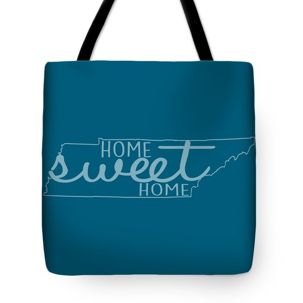 Tote Bag featuring the digital art Tennessee Home Sweet Home by Heather Applegate