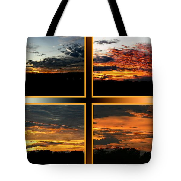 Tote Bag featuring the photograph Tennessee Sunset by EricaMaxine  Price