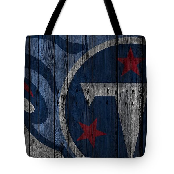 Tennessee Titans Wood Fence Tote Bag