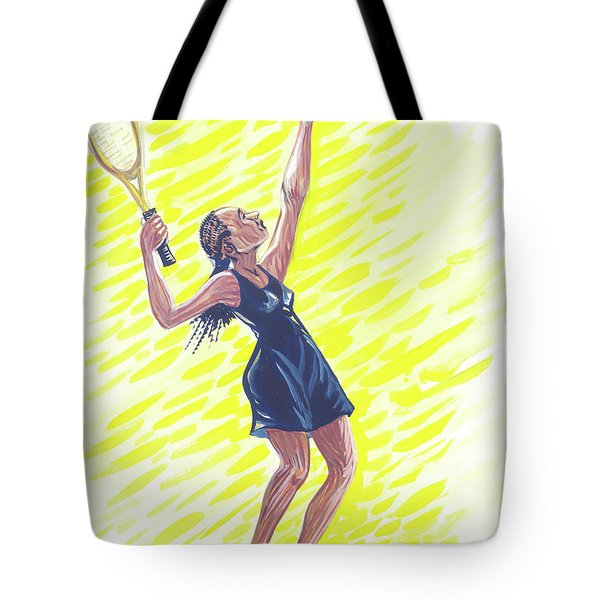 Tennis 01 Tote Bag by Emmanuel Baliyanga