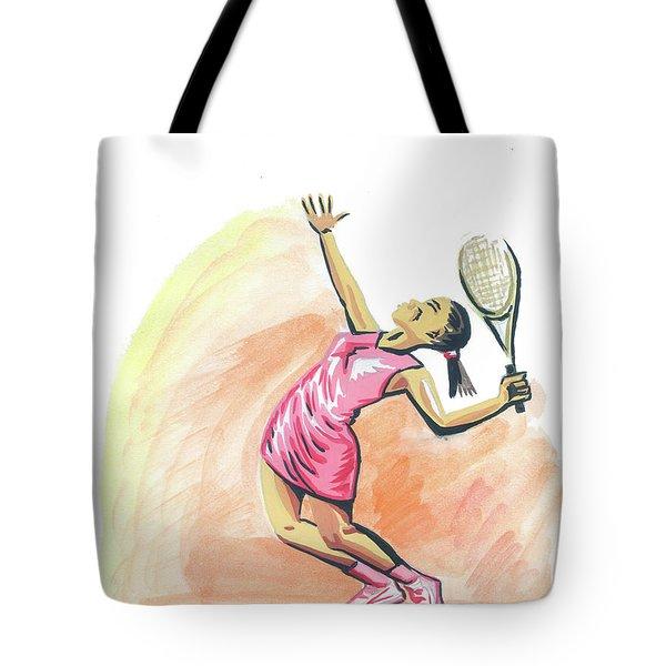 Tennis 03 Tote Bag by Emmanuel Baliyanga