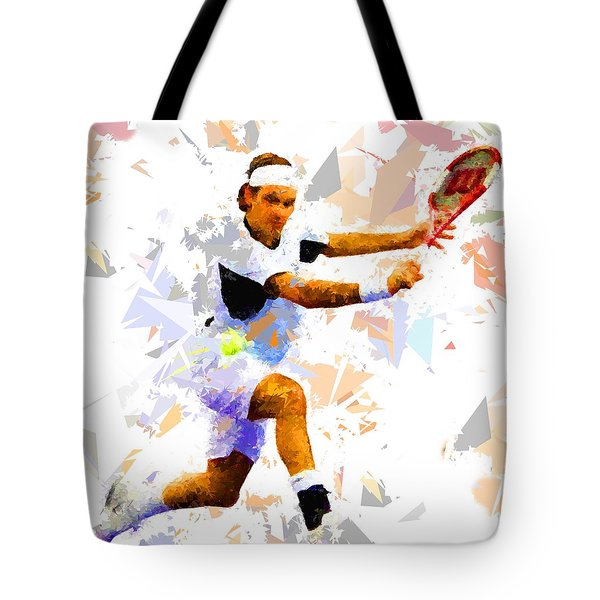 Tote Bag featuring the painting Tennis 114 by Movie Poster Prints