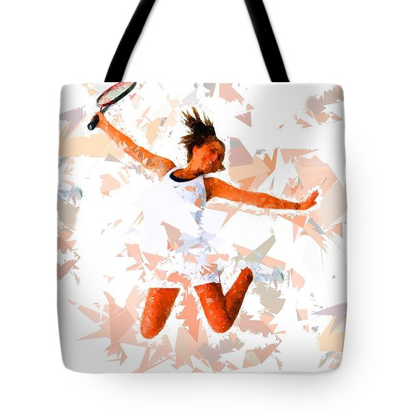Tote Bag featuring the painting Tennis 115 by Movie Poster Prints