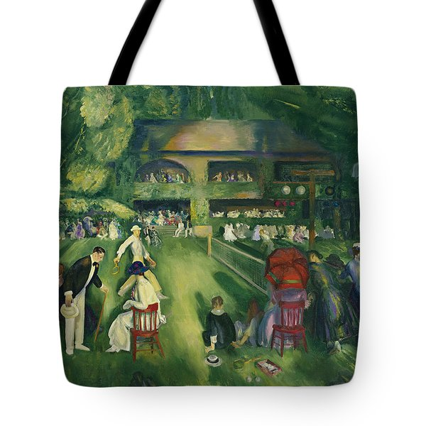 Tennis At Newport Tote Bag by George Bellows