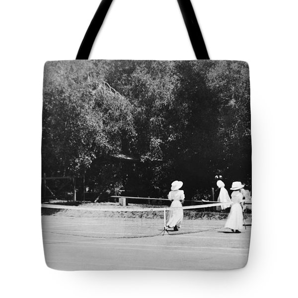 Tennis Champions Sutton And Hotchkiss Tote Bag by Omikron