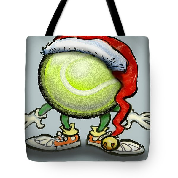 Tennis Christmas Tote Bag by Kevin Middleton