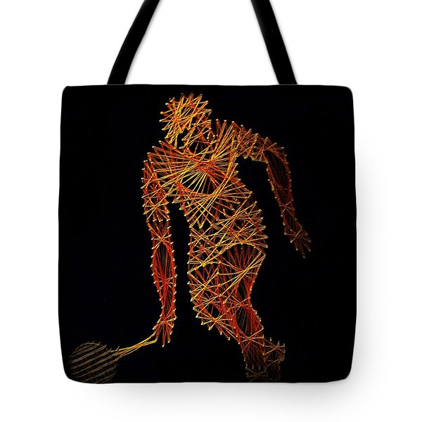 Tennis Tote Bag by David Dehner