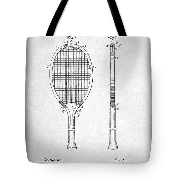 Tennis Racket Patent 1907 Tote Bag