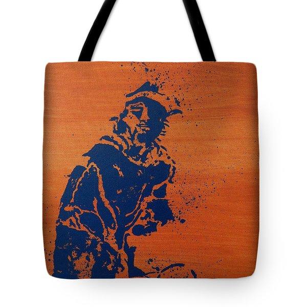 Tennis Splatter Tote Bag by Ken Pursley