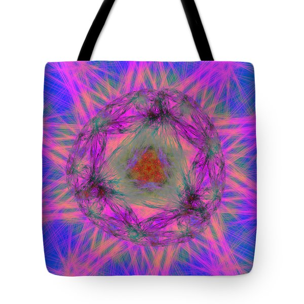 Tote Bag featuring the digital art Tenographs by Andrew Kotlinski