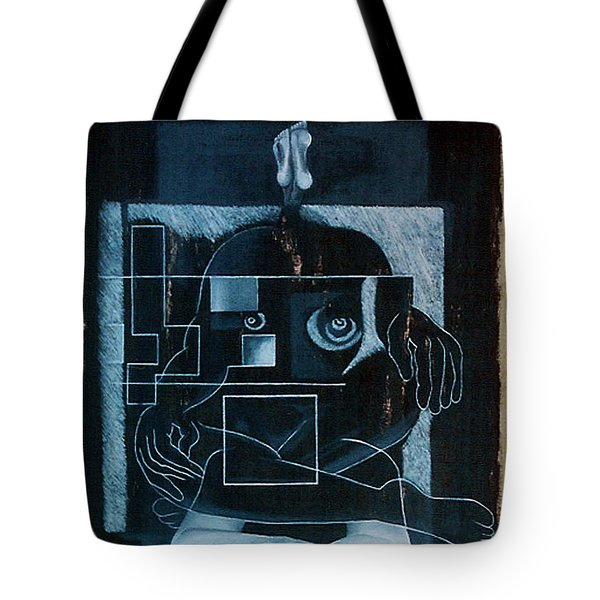 Tote Bag featuring the painting Tense Leisure by Fei A