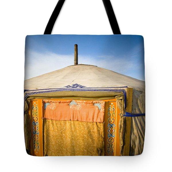 Tent In The Desert Ulaanbaatar, Mongolia Tote Bag by David DuChemin