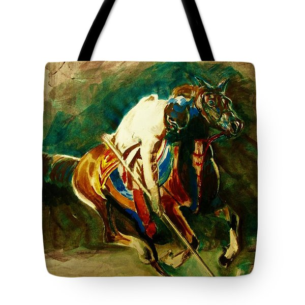 Tent Pegging Sport Tote Bag