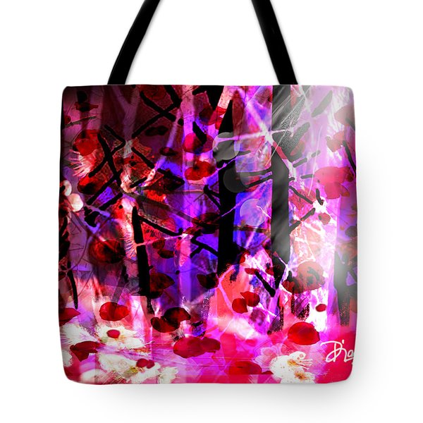 Tote Bag featuring the digital art Tentative Hope by Diana Riukas