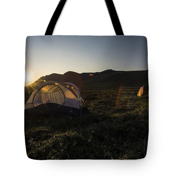 Tenting In The Midnight Sun Tote Bag