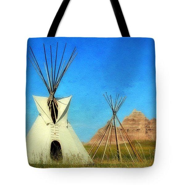 Tepee In Badlands Tote Bag