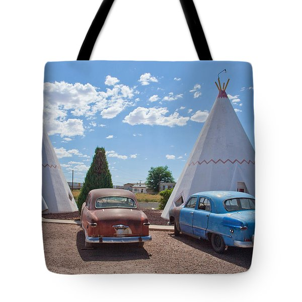 Tepee With Old Cars Tote Bag