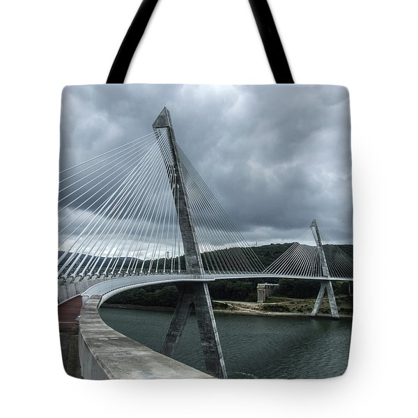 Terenez Bridge I Tote Bag by Helen Northcott