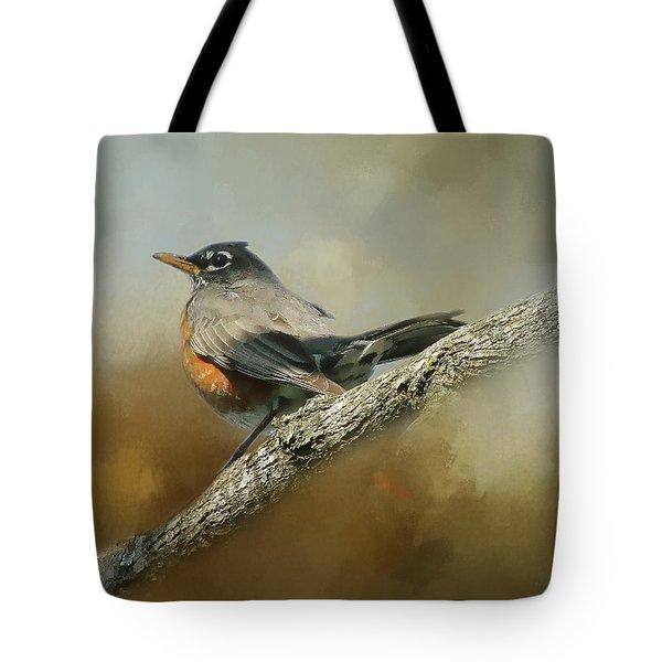 Teressia's Spring Robin  Tote Bag