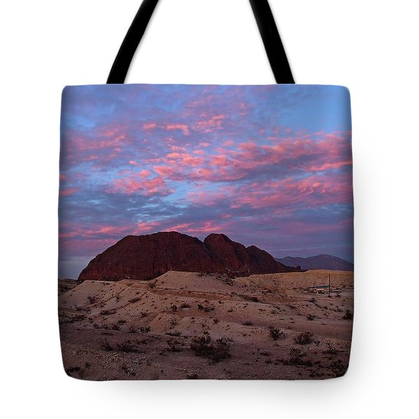 Tote Bag featuring the painting Terlingua Sunset by Dennis Ciscel