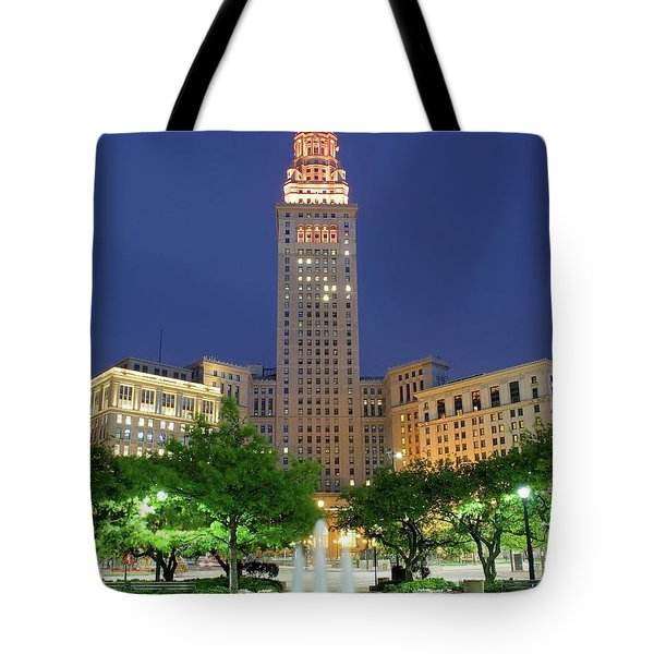 Terminal Tower Tote Bag by Frozen in Time Fine Art Photography