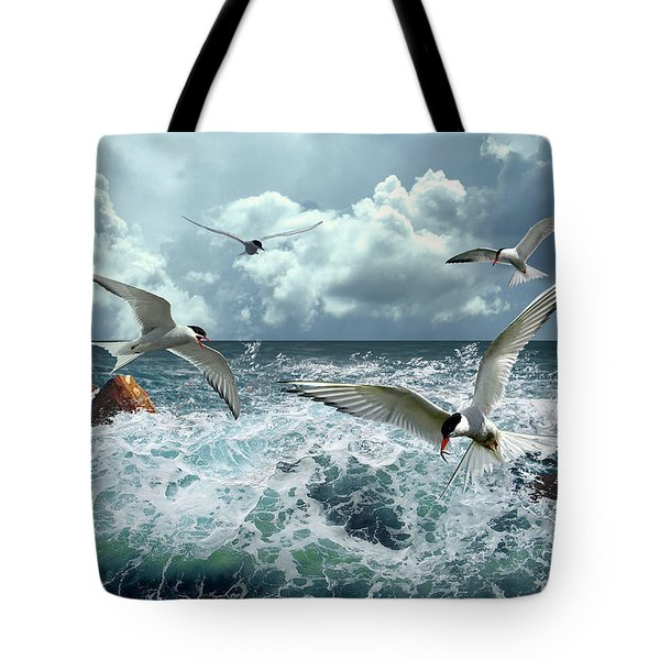 Terns In The Surf Tote Bag