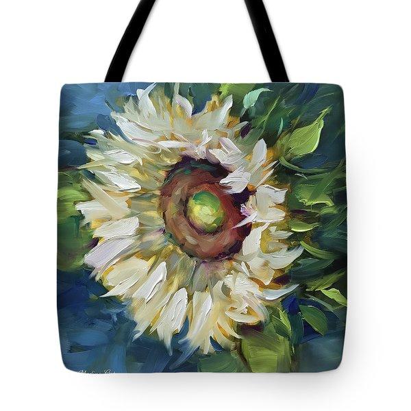 Terra Bianca White Sunflower Tote Bag