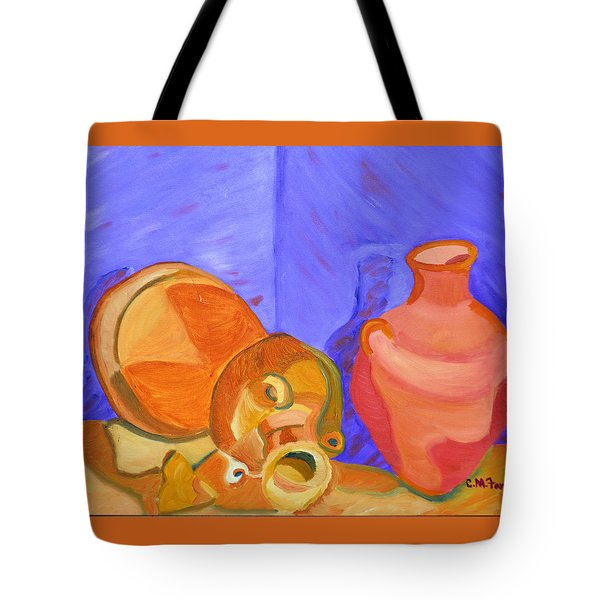 Tote Bag featuring the painting Terra Cotta by Christopher M Farris
