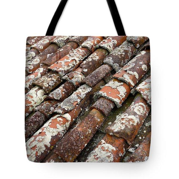 Terra Cotta Roof Tiles Tote Bag by Gaspar Avila