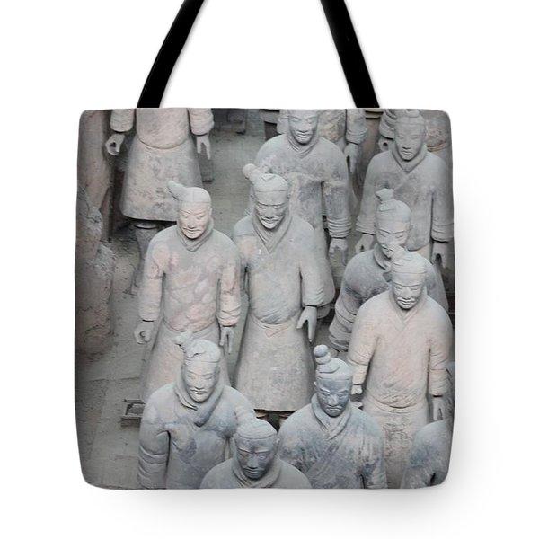 Terra Cotta Warriors Detail Tote Bag