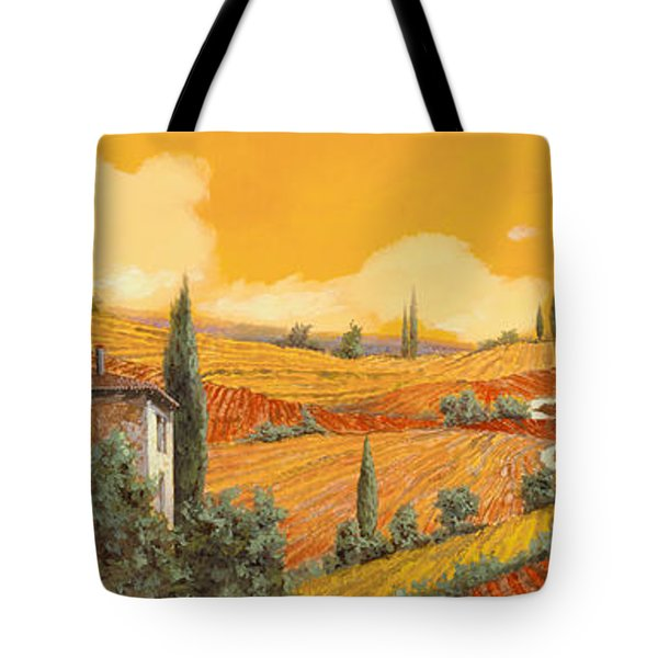 Tote Bag featuring the painting terra di Siena by Guido Borelli