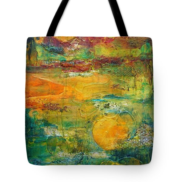 Tote Bag featuring the painting Terra Firma 2 by Jillian Goldberg