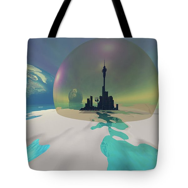 Terra-moon Tote Bag by Corey Ford