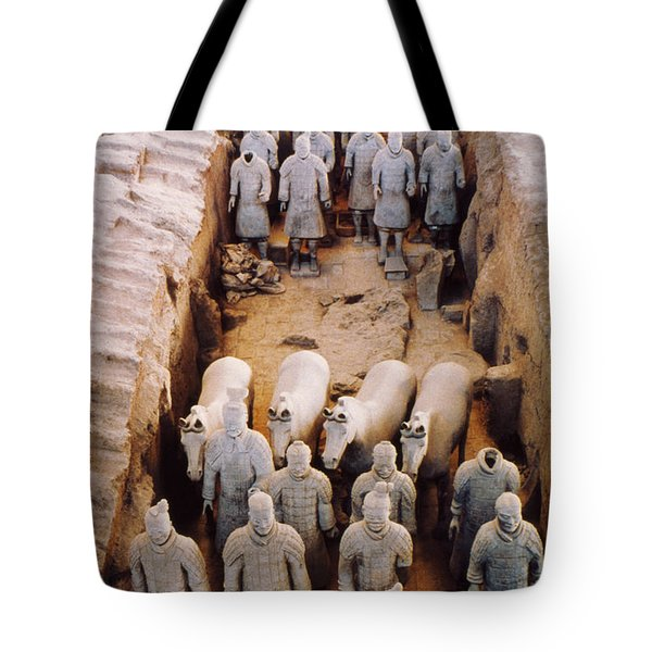 Tote Bag featuring the photograph Terracotta Army by Heiko Koehrer-Wagner