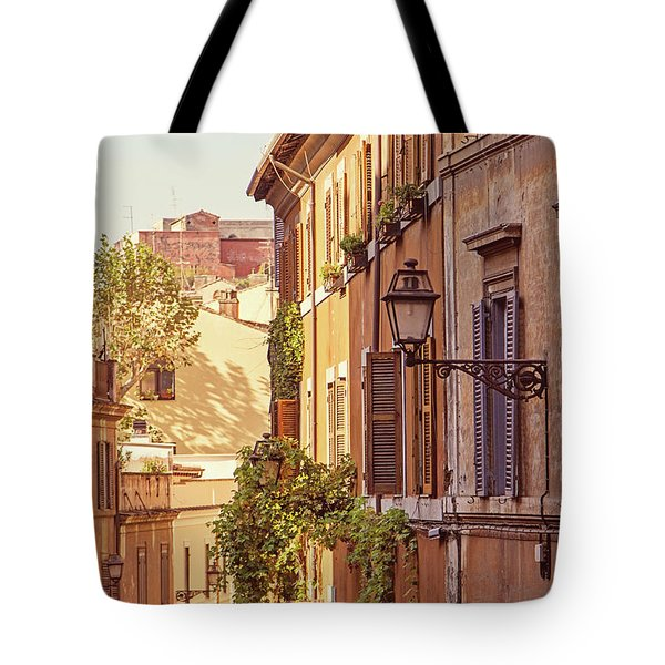 Tote Bag featuring the photograph Terracotta - Rome Italy Travel Photography by Melanie Alexandra Price