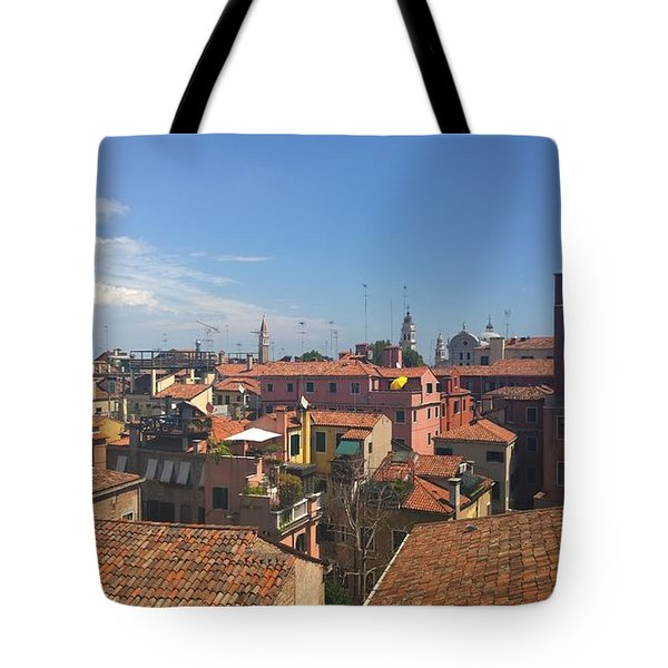 Tote Bag featuring the photograph Terracotta Rooftops by Anne Kotan
