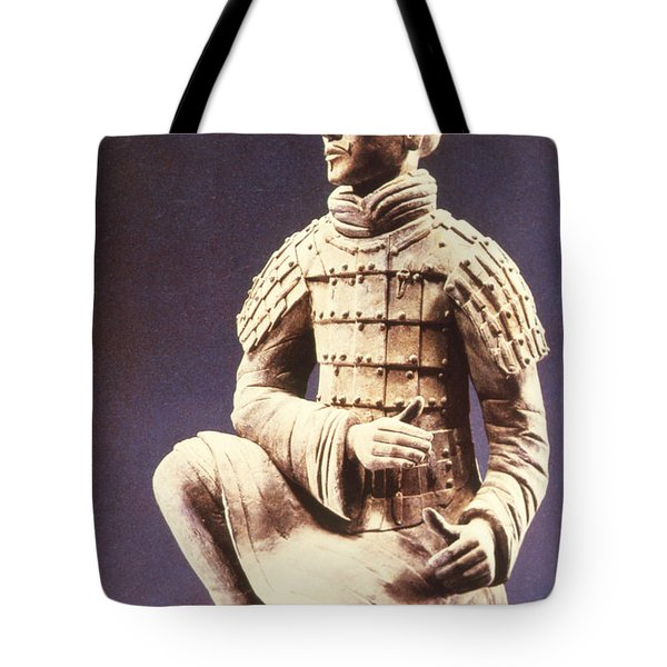 Tote Bag featuring the photograph Terracotta Soldier by Heiko Koehrer-Wagner