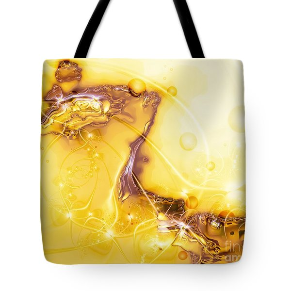Tote Bag featuring the digital art Terrain Of The Sun by Michelle H