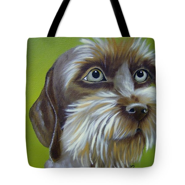 Terrier Waiting Patiently Tote Bag