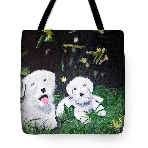 Terriers' Farm Pals. Tote Bag by Francine Heykoop