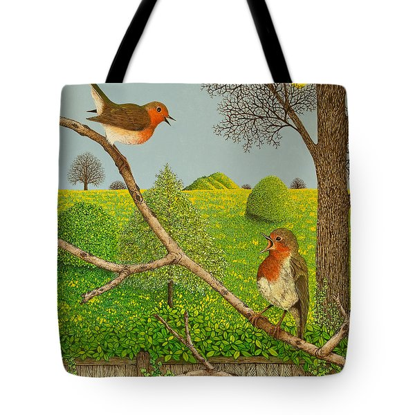 Territorial Rights Tote Bag by Pat Scott