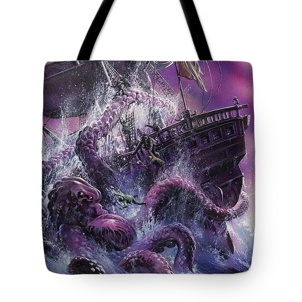 Terror From The Deep Tote Bag by Oliver Frey