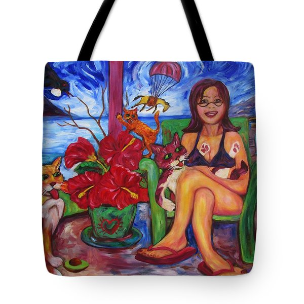 Terrorist Tui And Too Comfy Cats Tote Bag