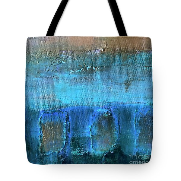 Tote Bag featuring the painting Tertiary by Kim Nelson