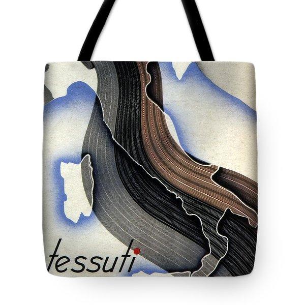 Tessuti Marzotto - Italian Textile Company - Vintage Advertising Poster Tote Bag