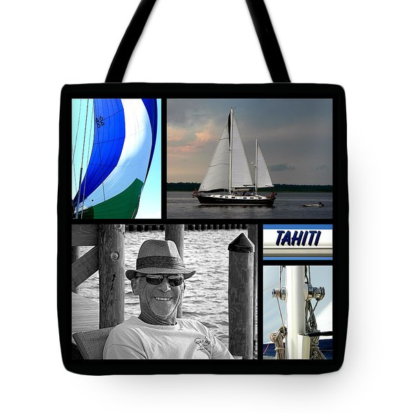 Tahiti Square Collage Tote Bag