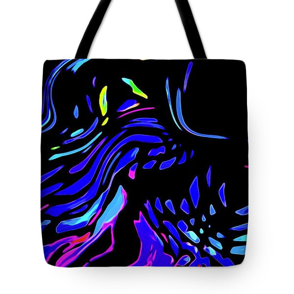 Tote Bag featuring the digital art Toccata by Gina Harrison